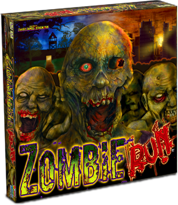 Zombie Run Custom Board Game