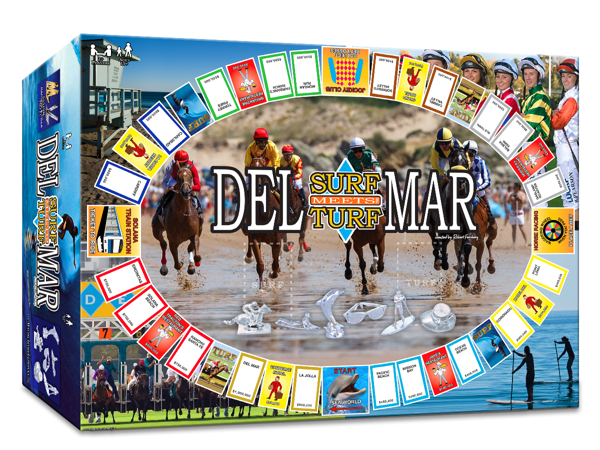 Del Mar Surf Meets Turf Property Trading Game